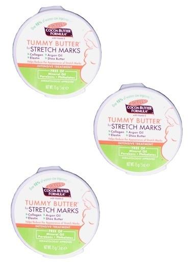 Palmers Palmer's Cocoa Butter Formula Stretch Marks Tummy Butter 3 x 15 gr - Karın Gerginliği Azaltıcı Krem Renksiz